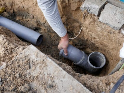 Laying,And,Installation,Of,A,Sewer,Pipe