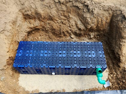 Plastic,Box,For,Drainage,And,Rainwater.,Seepage,Boxes.,Soakaway,Boxes.